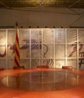 Protección para el cuadro de Antoni Tàpies en la Generalitat