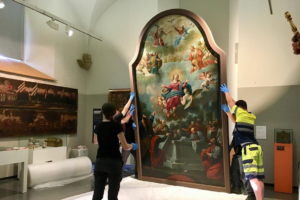 Painting of the Assumption of the Virgin in La Seu of Manresa